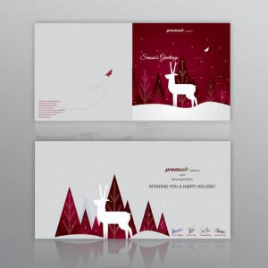 desain undangan Season's Greeting
