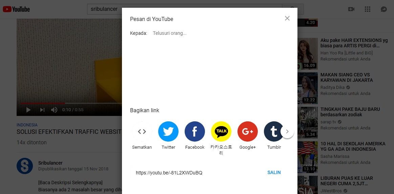 cara menambah viewer youtube - sharing dan embed