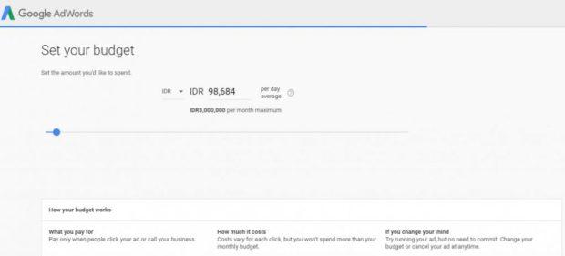 Tentukan Budget Google Ads