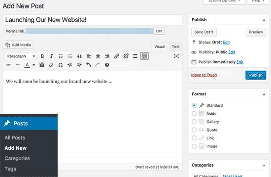 post baru cara membuat website gratis di wordpress