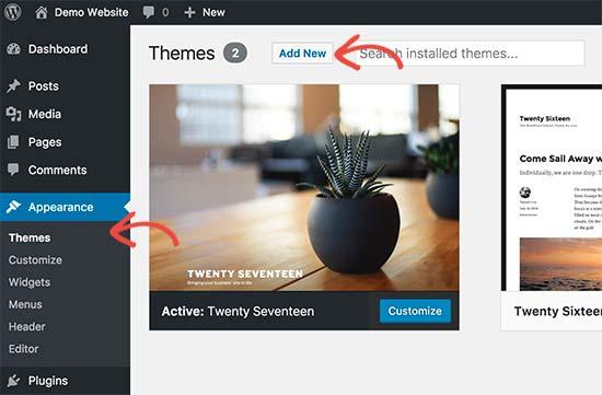 mengganti tema pada cara membuat website dengan wordpress