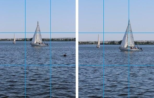 prinsip fotografi rule of third pada perahu