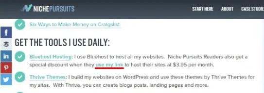 contoh penempatan link untuk affiliate marketing