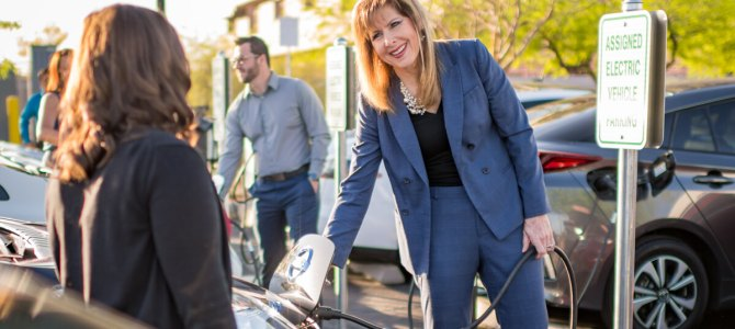 Charging ahead: How one SRP employee practices sustainability every day