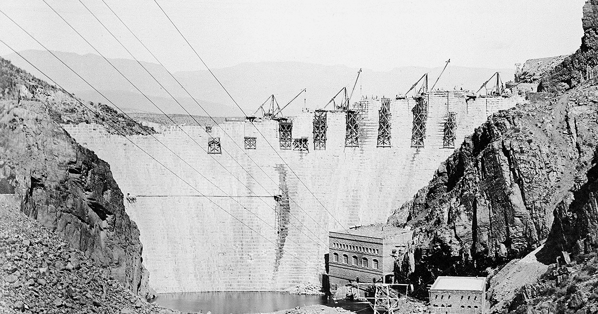 Arizona Statehood and SRP go hand in hand. Photo of Roosevelt Dam.