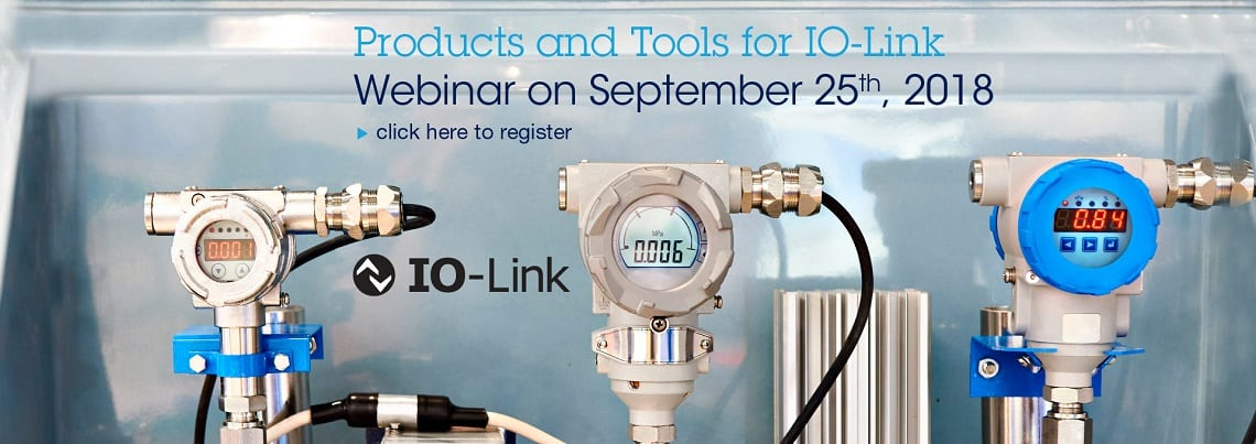 Join ST for a 1-hour webinar on IO-Link Communication Products and Tools for Industry 4.0