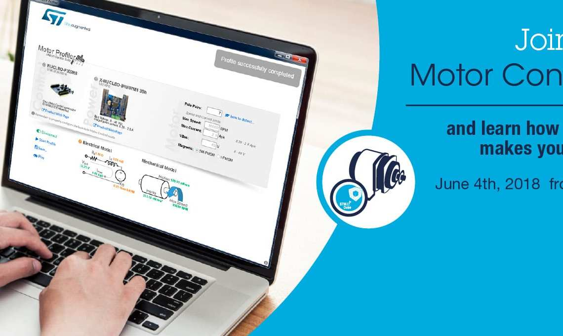 Join our STM32 Motor Control Webinar – June 4th, 15:00-16:00 CET!