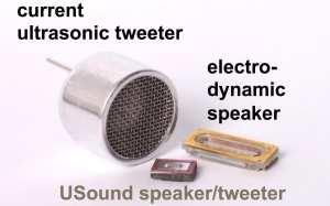 Relative size of MEMS speaker
