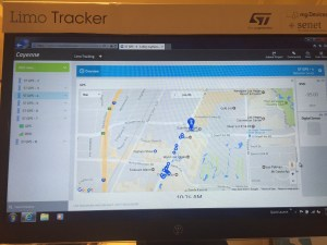 Screen capture of limo-tracking demo