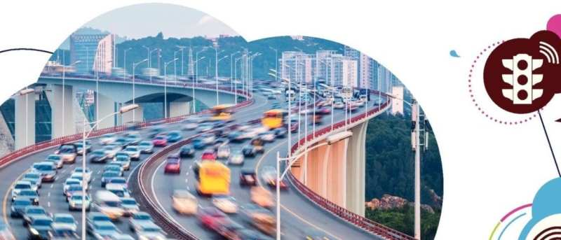 Cars moving along an expressway