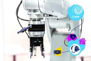 A robot arm using a BLDC motor driver like the STSPIN830
