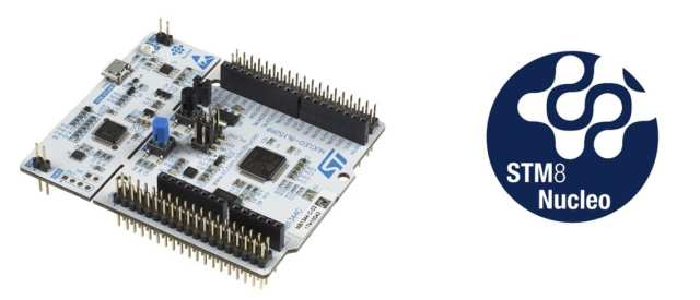An STM8 Nucleo board