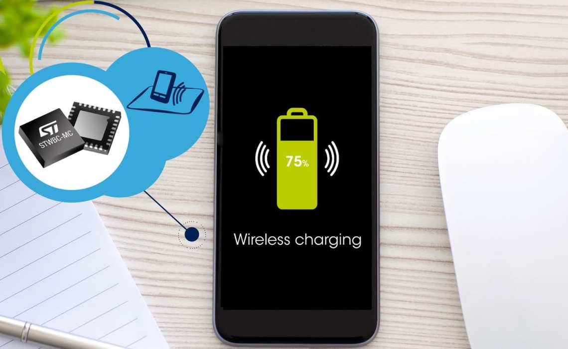 ST's First 3-Coil Qi Wireless Charging Transmitter, More Power Less Problems