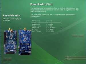 Dual Radio Chat Application