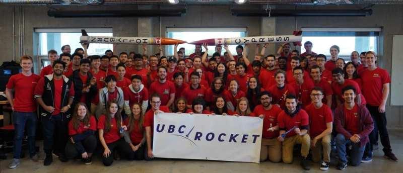 The team at UBC Rocket