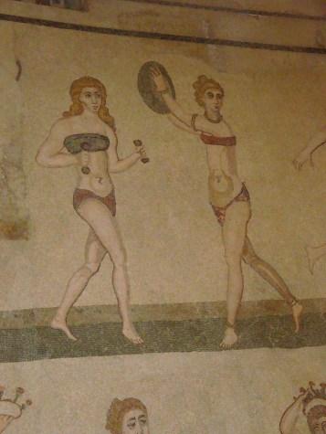 Mosaike in der Villa Romana