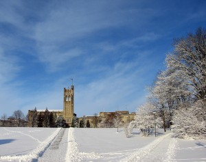 UC Hill in the winter