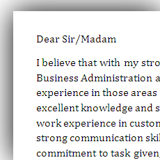 Awesome Cover Letter