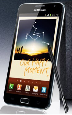 Samsung Galaxy Note is a hybrid tablet/smartphone