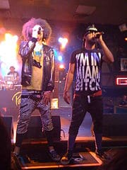 LMFAO performing at Free Show 3.0 in Fort Wayne, Indiana