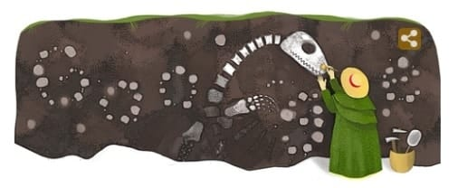 Paleaontologist Mary Anning - Google Doodle May21, 2014