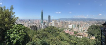 Der Taipei 101 Tower vom Elephant Mountain aus