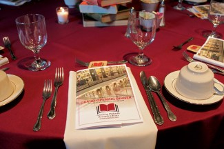 APRL grand opening dinner table setting.