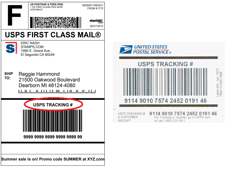 Delivery Confirmation is now called USPS Tracking  Stampscom Blog