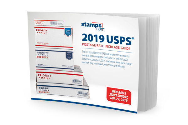 2019 usps postage rate