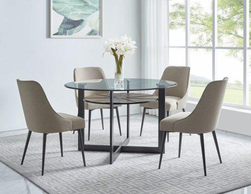 Olson 5-Piece Glass Dining Set