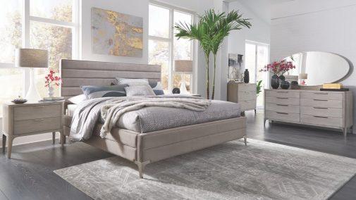 Sarah Fully Upholstered Velvet Bed