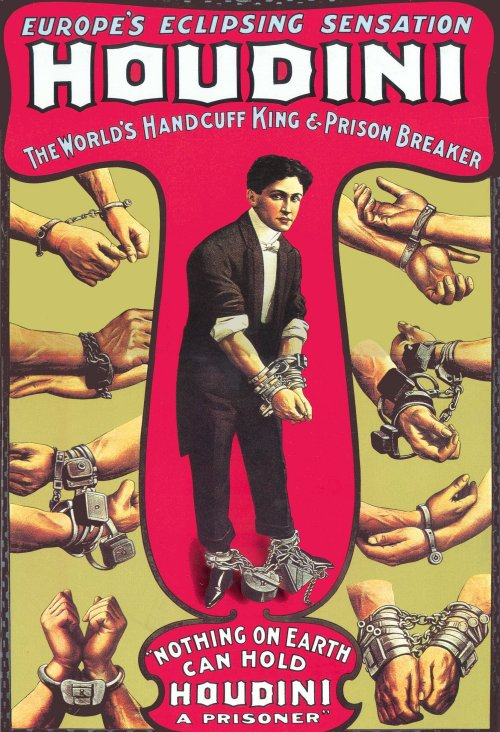 harry houdini antique posters art collection