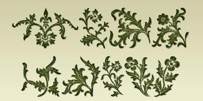 ding fonts, dingbat fonts, ornate fonts, leaves, vintage fonts,  flowers