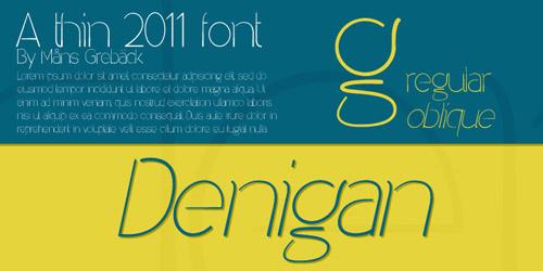 thin font, fancy font, new fonts