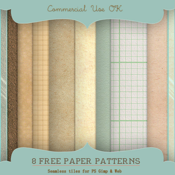 New Free Paper Patterns for Photoshop Gimp and Web