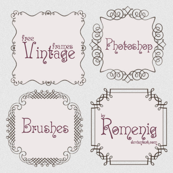 free brushes, doodle frames, vintage calligraphy, decorative ornaments, decorative borders, free
