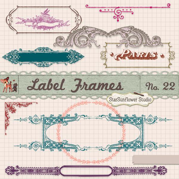 free vintage borders label frames brushes vectors png clipart