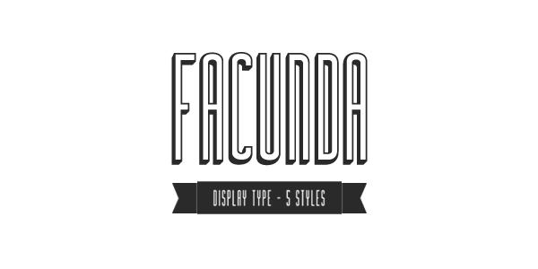 free font, free fonts, free vintage font, facunda display type free