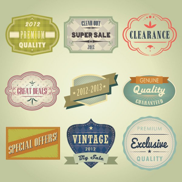 free vectors, free vector labels, free vector vintage badges, free vector vintage labels, free vector vintage stickers, advertising label vectors, product label vectors free
