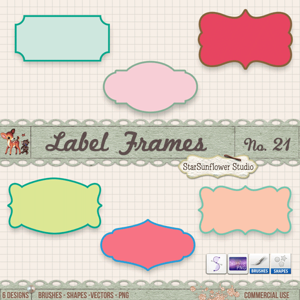 Free Doodle Frames Clipart, Brushes, Custom Shapes & Vectors