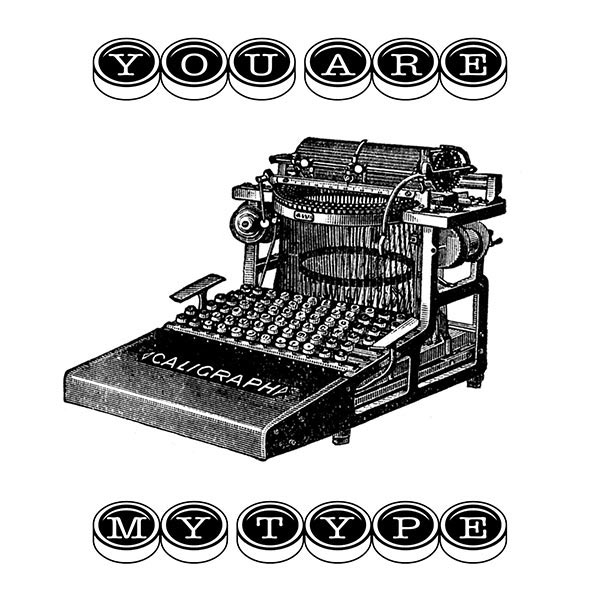Vintage Typewriter Image for Valentine's Day