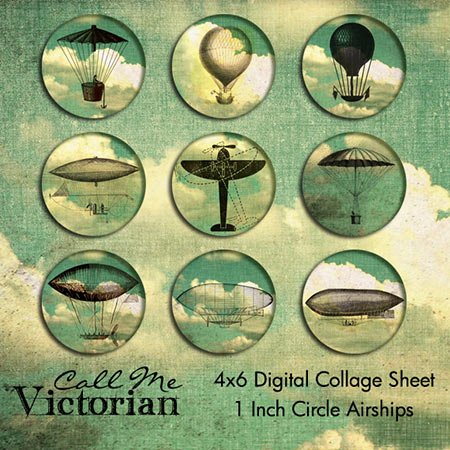 Free Steampunk Digital Collage Sheet