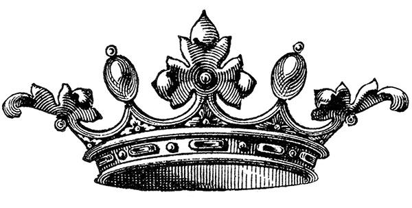 vintage clipart, vintage crown clipart