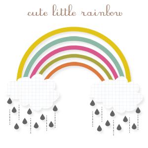 rainbow clipart, cute clipart