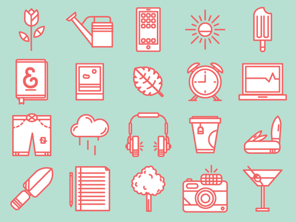 cute icons, hipster icons, spring icons, camera icon, simple icons, flat icons