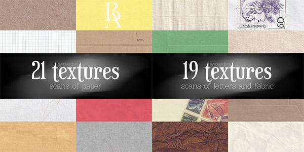 paper textures, fabric textures, vintage letter textures, lined paper textures, graph paper textures