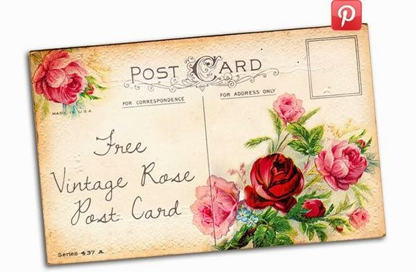 free vintage postcard, vintage post card, free printable, free printables