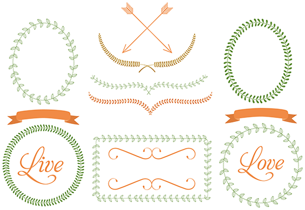 borders, frames, oval, circle, round, leaf border, vine border, frame borders, free clipart images, free vector art, vector graphics, vector art, free graphics,