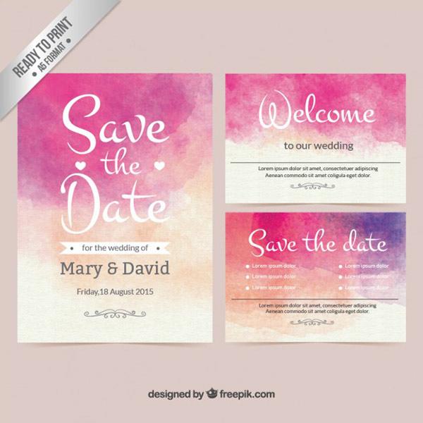 Printable Wedding Invite - Watercolor Vector