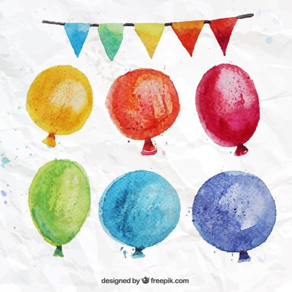 Stock Graphics - Watercolor Party Vector